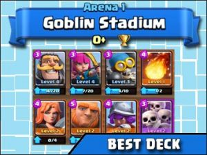 Best deck for Arena 1