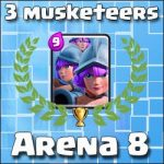 Arena 8: Decent 3 musketeers deck (no legendary)