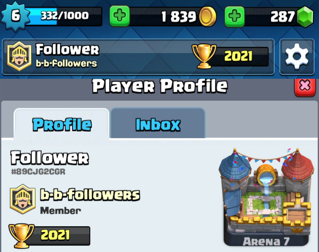 Follower Clash Royale