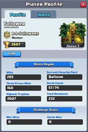 Follower's statistics 1