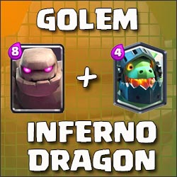 Golem and Inferno Dragon deck