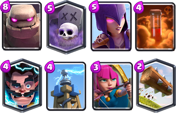 Golem and Graveyard deck Arena 10