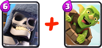 Giant skeleton and goblin barrel
